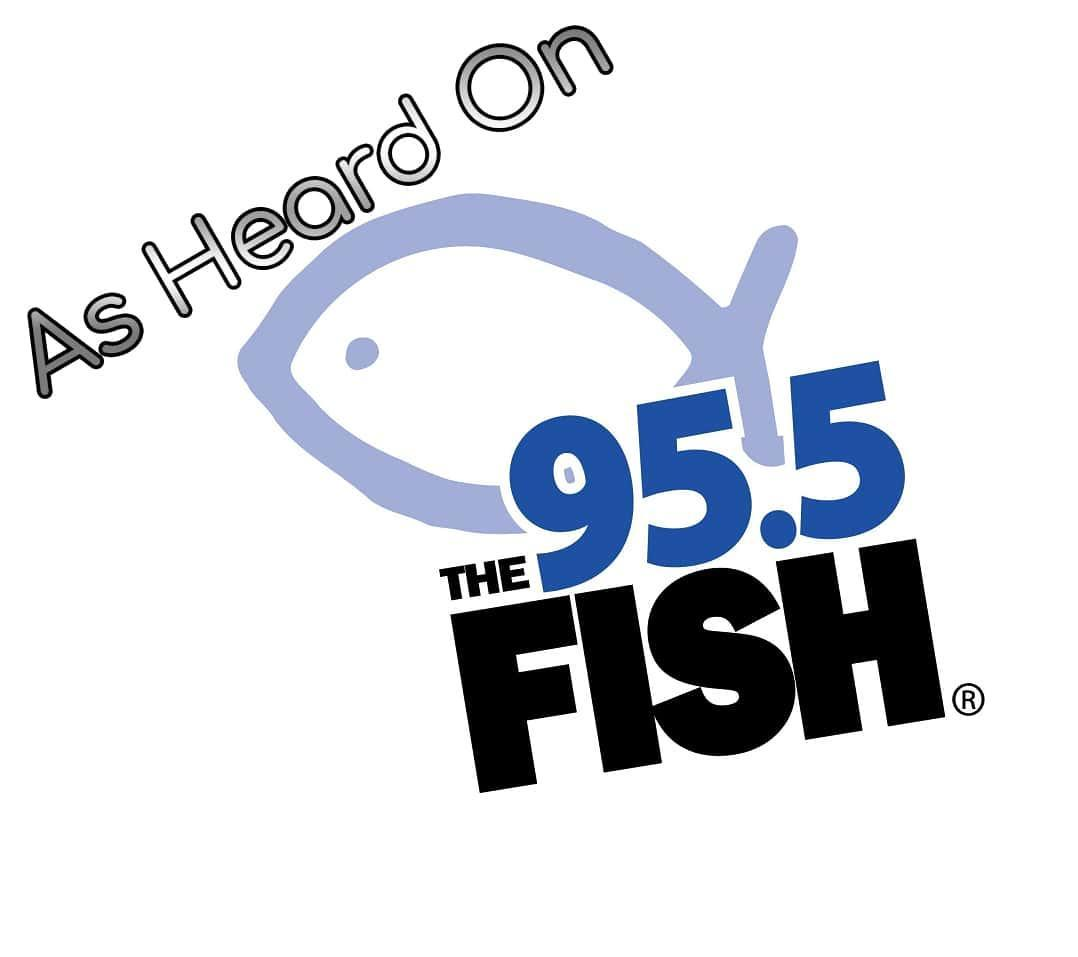 95.5 The Fish logo and link
